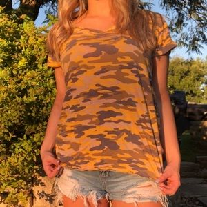 Tops - Yellow Camo Shirt